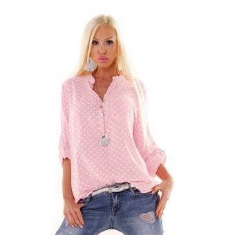 Damen Bluse gepunktet Polka Dots