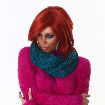 Damen Grobstrick Schlauchschal Loop Schal pink, grau 9 tolle Farben