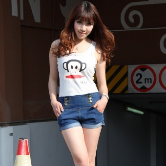 Shorts hohe Taille Hot Pants Pin Up Look
