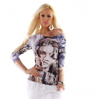 Damen Shirt mit Strass