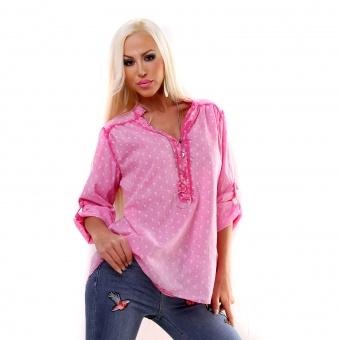 Italy Bluse mit Flamingo Print