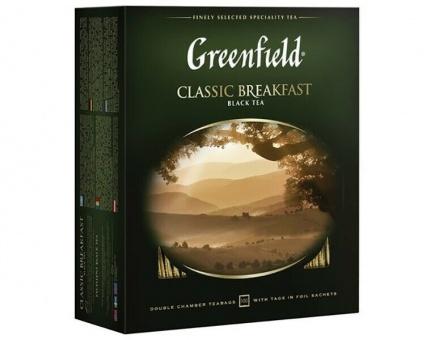 Greenfield Schwarzer Tee Classic Breakfast 100 Btl гринфилд чай чёрный 34,95€/Kg