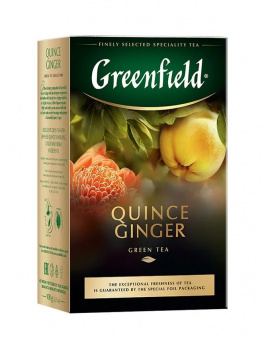 Greenfield Grüner Tee Quitten Ingwer 100g lose чай зеленый с айвой и имбирем 39,90€/Kg