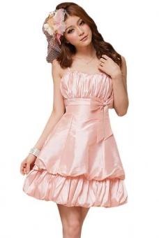Ballonkleid in rosa 36