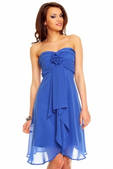 Trägerloses Cocktailkleid royal blau   S