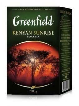 Greenfield Schwarzer Tee Kenyan Sunrise lose гринфилд чай рассыпной 29,95€/Kg