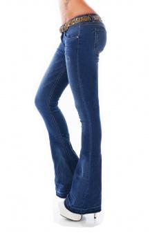 Damen Schlaghose Jeans weiter Schlag Flare Cut