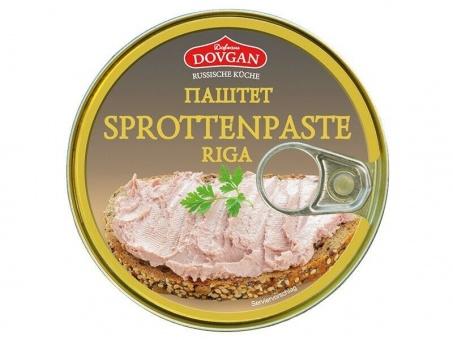 5x Dovgan Sprottenpaste Sprotten Brotaufstrich Паштет шпротный 7,49€/kg