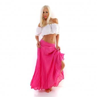 Damen Maxirock Sommerrock aus Baumwolle