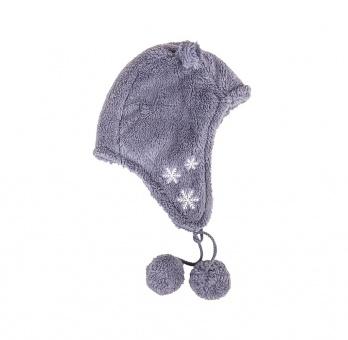 Damen Mütze mit Ohren aus Teddy Fell
