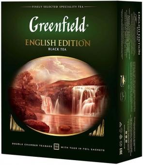 Greenfield Schwarzer Tee English Edition гринфилд чай чёрный пакетики 34,95€/Kg