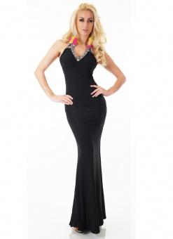 elegantes Abendkleid mit Rückenausschnitt in schwarz