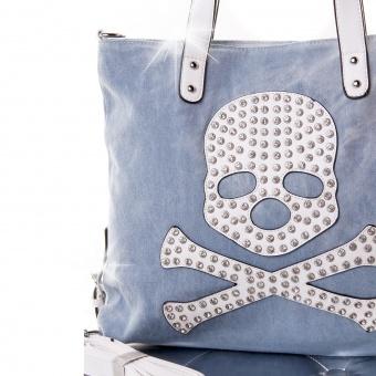 Handtasche Shopper mit Strass Skull