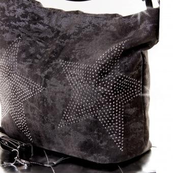 Handtasche Shopper mit Strass Stern