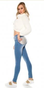 Damen Jeans mit Po Push Up Pads Einlagen