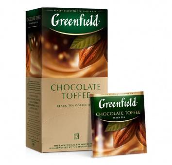 Greenfield Schwarzer Tee Caramel Toffee Geschmack чай чёрный Chocolate Toffee 79,73€/Kg