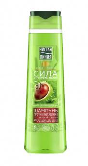 Shampoo mit Rosskastanien gegen Haarausfall 400ml Шампунь Чистая линия с конским каштаном 12,48€/L