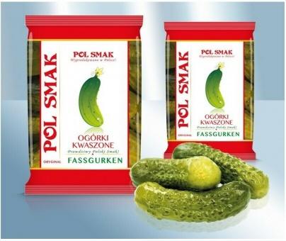 Pol Smak Fassgurken Polnische Salzgurken Огурцы бочковые польские 3,36€/kg