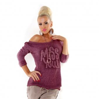 Italienische Damen Pullover MISS YOU