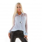 Italy Oversize Bluse mit Spitze